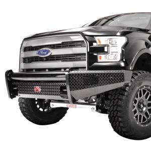 Fab Fours - Fab Fours FF09-K1961-1 Black Steel Front Bumper for Ford F150 2009-2014