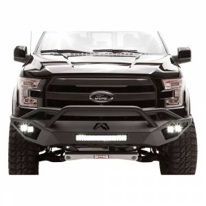 Fab Fours - Fab Fours FF15-D3252-1 Vengeance Front Bumper with Pre-Runner Guard and Sensor Holes for Ford F150 2015-2017
