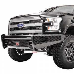 Fab Fours - Fab Fours FF15-K3251-1 Black Steel Front Bumper for Ford F150 2015-2017