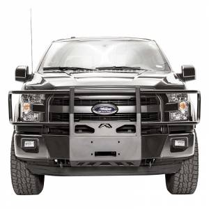 Exterior Accessories - Winch Mount | Hidden Winch Bumpers - Fab Fours - Fab Fours FF15-N3270-1 Winch Mount with Full Guard for Ford F150 2015-2020