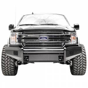 Fab Fours FF18-K4561-1 Black Steel Front Bumper for Ford F150 2018-2020