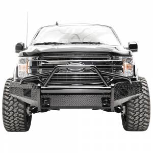 Fab Fours FF18-K4562-1 Black Steel Front Bumper with Pre-Runner Guard for Ford F150 2018-2020