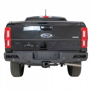 Shop Bumpers By Vehicle - Ford Ranger - Fab Fours - Fab Fours FR19-E4851-1 Vengeance Rear Bumper with Sensor Holes for Ford Ranger 2019