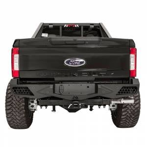 Fab Fours - Fab Fours FS17-E4151-1 Vengeance Rear Bumper with Sensor Holes for Ford F250/F350/F450/F550 2017-2021