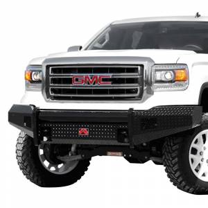 Fab Fours - Fab Fours GM07-K2161-1 Black Steel Front Bumper for GMC Sierra 1500 2007-2013 - Image 1