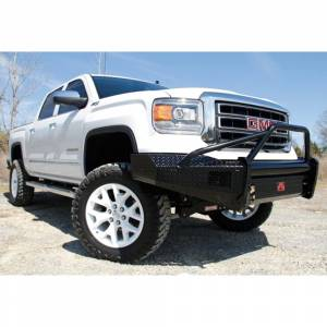 Fab Fours - Fab Fours GM07-K2162-1 Black Steel Front Bumper with Pre-Runner Guard for GMC Sierra 1500 2007-2013 - Image 2