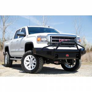 Fab Fours - Fab Fours GM07-K2162-1 Black Steel Front Bumper with Pre-Runner Guard for GMC Sierra 1500 2007-2013 - Image 3