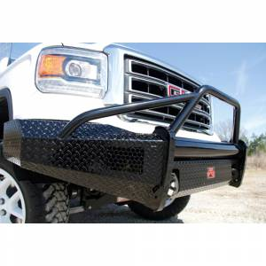 Fab Fours - Fab Fours GM07-K2162-1 Black Steel Front Bumper with Pre-Runner Guard for GMC Sierra 1500 2007-2013 - Image 4