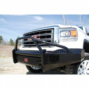 Fab Fours - Fab Fours GM07-K2162-1 Black Steel Front Bumper with Pre-Runner Guard for GMC Sierra 1500 2007-2013 - Image 5