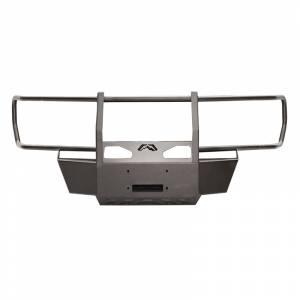 Exterior Accessories - Winch Mount | Hidden Winch Bumpers - Fab Fours - Fab Fours GM15-N3070-1 Winch Mount with Full Guard for GMC Sierra 2500/3500 2015-2019