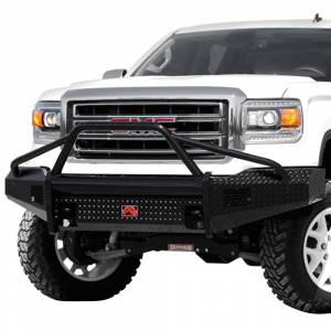 Fab Fours - Fab Fours GS14-K3162-1 Black Steel Front Bumper with Pre-Runner Guard for GMC Sierra 1500 2014-2015