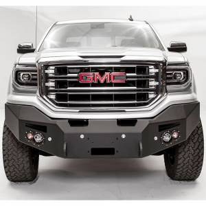 Fab Fours - Fab Fours GS16-F3951-1 Premium Winch Front Bumper with Sensor Holes for GMC Sierra 1500 2016-2018