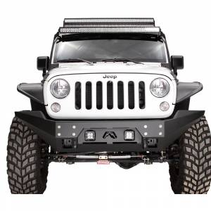 Shop Bumpers By Vehicle - Jeep Wrangler JK - Fab Fours - Fab Fours JK07-B1855-1 FMJ Stubby Winch Front Bumper for Jeep Wrangler JK 2007-2018