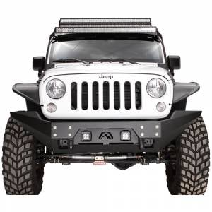 Fab Fours - Fab Fours - Fab Fours JK07-B1857-1 FMJ Full Width Winch Front Bumper for Jeep Wrangler JK 2007-2018