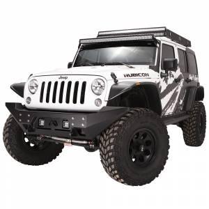 Fab Fours - Fab Fours JK07-B1857-1 FMJ Full Width Winch Front Bumper for Jeep Wrangler JK 2007-2018 - Image 2
