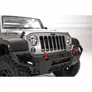 Fab Fours - Fab Fours JK07-D1851-1 Vengeance Front Bumper with Sensor Holes for Jeep Wrangler JK 2007-2018 - Image 2
