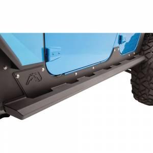 Fab Fours - Fab Fours - Fab Fours JK07-G1450-1 4 Door Light Rock Sliders for Jeep Wrangler JK 2007-2018