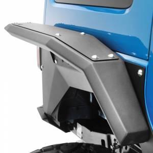 Fab Fours - Fab Fours - Fab Fours JK1007-1 Full Width Rear Fender Flares for Jeep Wrangler JK 2007-2018