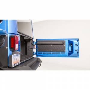 Fab Fours - Fab Fours JK2000-1 Rear Door Plate for Jeep Wrangler JK 2007-2018 - Image 4