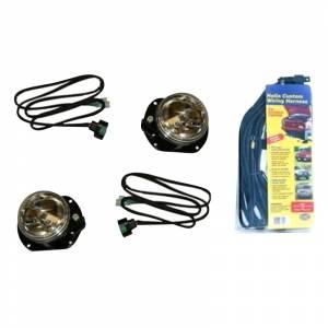Fab Fours - Fab Fours - Fab Fours JKST-LA JK Stubby Front Bumper Optional Fog Light Kit