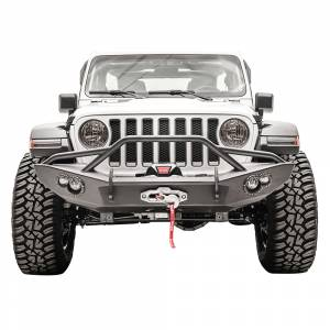 Fab Fours JL18-B4652-1 Lifestyle Winch Front Bumper with Pre-Runner Guard for Jeep Gladiator JT 2019