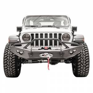 Fab Fours JL18-B4652-1 Lifestyle Winch Front Bumper with Pre-Runner Guard for Jeep JL 2019