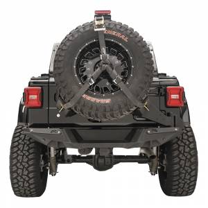 Exterior Accessories - Tire Carrier and Components - Fab Fours - Fab Fours JL2070-1 Slant Back Tire Carrier for Jeep Wrangler JL 2018-2020
