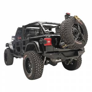 Fab Fours - Fab Fours JL2070-1 Slant Back Tire Carrier for Jeep Wrangler JL 2018-2020 - Image 2