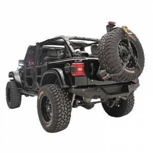 Fab Fours - Fab Fours JL2070-1 Slant Back Tire Carrier for Jeep Wrangler JL 2018-2020 - Image 3