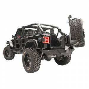 Fab Fours - Fab Fours JL2070-1 Slant Back Tire Carrier for Jeep Wrangler JL 2018-2020 - Image 4