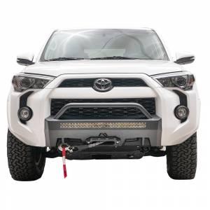 Exterior Accessories - Winch Mount | Hidden Winch Bumpers - Fab Fours - Fab Fours T4R-N4552-1 Hidden Winch Mount with Pre-Runner Bar for Toyota 4Runner 2014-2021