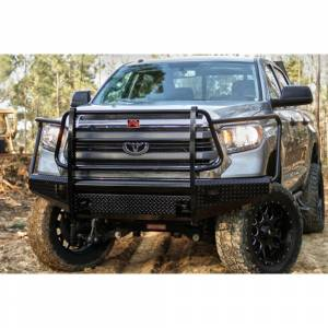 Fab Fours - Fab Fours TT07-K1860-1 Black Steel Front Bumper with Full Grille Guard for Toyota Tundra 2007-2013 - Image 3