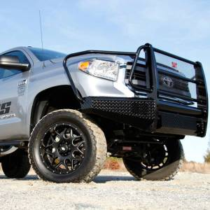 Fab Fours - Fab Fours TT07-K1860-1 Black Steel Front Bumper with Full Grille Guard for Toyota Tundra 2007-2013 - Image 4