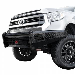 Fab Fours - Fab Fours TT07-K1861-1 Black Steel Front Bumper for Toyota Tundra 2007-2013 - Image 2