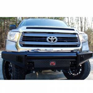 Fab Fours - Fab Fours TT07-K1861-1 Black Steel Front Bumper for Toyota Tundra 2007-2013 - Image 3
