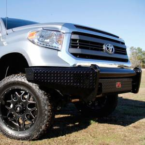 Fab Fours - Fab Fours TT07-K1861-1 Black Steel Front Bumper for Toyota Tundra 2007-2013 - Image 4