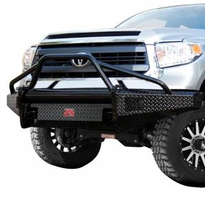 Fab Fours - Fab Fours TT07-K1862-1 Black Steel Front Bumper with Pre-Runner Bar Guard for Toyota Tundra 2007-2013 - Image 2