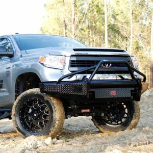 Fab Fours - Fab Fours TT07-K1862-1 Black Steel Front Bumper with Pre-Runner Bar Guard for Toyota Tundra 2007-2013 - Image 4