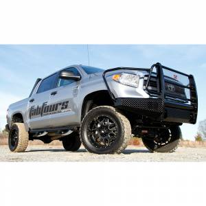 Fab Fours - Fab Fours TT14-K2860-1 Black Steel Front Bumper with Full Grille Guard for Toyota Tundra 2014-2019 - Image 2