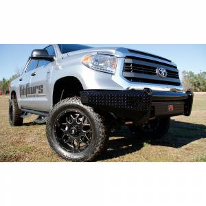 Fab Fours - Fab Fours TT14-K2861-1 Black Steel Front Bumper for Toyota Tundra 2014-2019 - Image 2