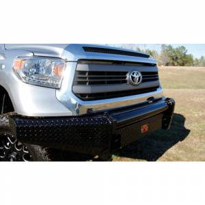 Fab Fours - Fab Fours TT14-K2861-1 Black Steel Front Bumper for Toyota Tundra 2014-2019 - Image 3
