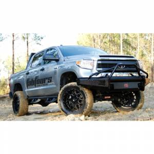 Fab Fours - Fab Fours TT14-K2862-1 Black Steel Front Bumper with Pre-Runner Bar Guard for Toyota Tundra 2014-2019 - Image 2