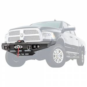 Truck Bumpers - Warn Ascent - Warn - Warn 100923 Ascent Front Bumper for Dodge Ram 2500/3500 2011-2018