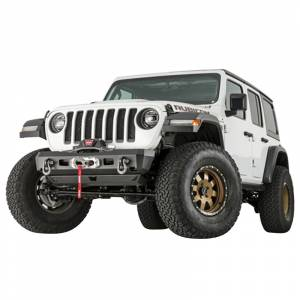 Jeep Bumpers - Warn - Warn - Warn 101325 Elite Stubby Front Bumper for Jeep Gladiator/Wrangler JL 2018-2020
