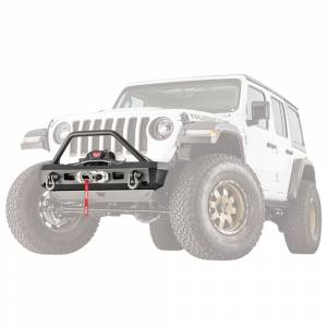Jeep Bumpers - Warn - Warn - Warn 101330 Elite Stubby Front Bumper for Jeep Gladiator/Wrangler JL 2018-2020