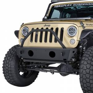 Jeep Bumpers - Warn - Warn - Warn 87600 Rock Crawler Stubby Front Bumper with Pre-Runner for Jeep Wrangler/Wrangler JK 2007-2018