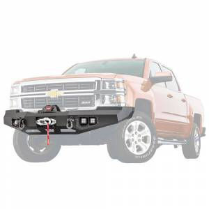 Warn - Warn 95800 Ascent Front Bumper for Chevy Silverado 1500 2014-2015 - Image 1