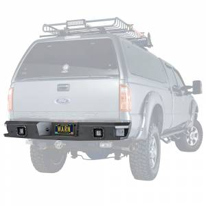 Truck Bumpers - Warn Ascent - Warn - Warn 96290 Ascent Rear Bumper for Ford F250/F350 2011-2016