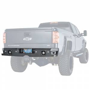 Truck Bumpers - Warn Ascent - Warn - Warn 96550 Ascent Rear Bumper for Chevy Silverado 1500 2014-2018