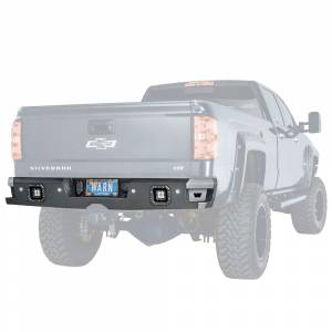 Truck Bumpers - Warn Ascent - Warn - Warn 96550 Ascent Rear Bumper for Chevy Silverado 2500HD/3500HD 2015-2018